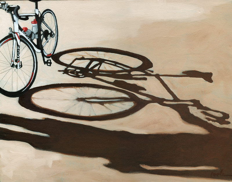 """Precious - bicycle oil painting"" original fine art by Linda Apple"