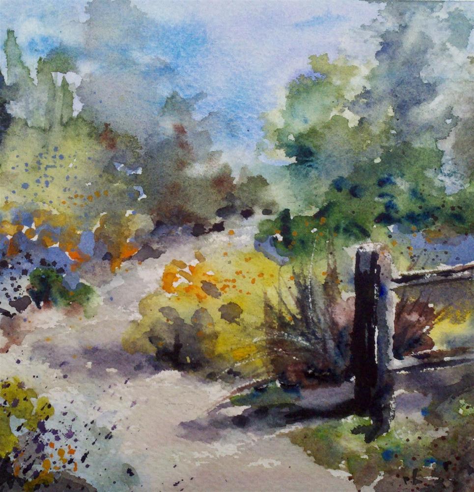 Arlington Garden Path original fine art by Julie Hill
