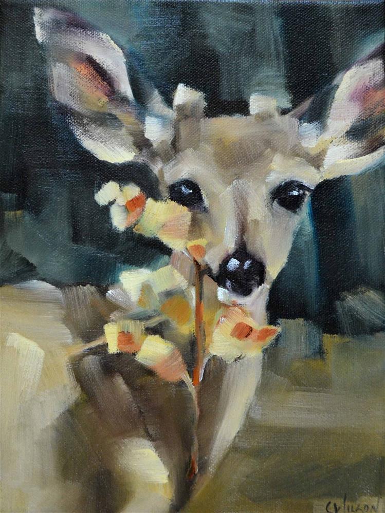 """""""Young Buck"""" original fine art by Cheryl Wilson"""