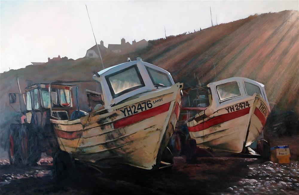 """Candy, Cromer Beach"" original fine art by Tanya Pawsey"