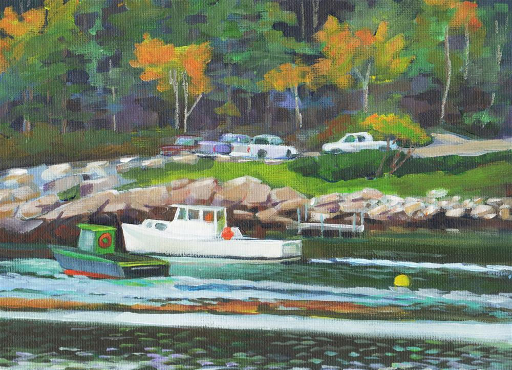 """Maine Boats"" original fine art by Susan Suraci"