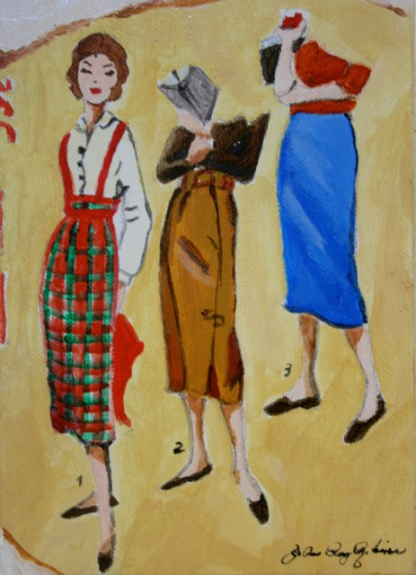 """Smart Vintage Gals"" original fine art by JoAnne Perez Robinson"