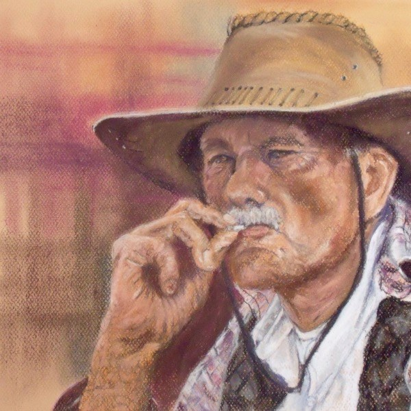 """Marlboro Man"" original fine art by Nelvia  McGrath"