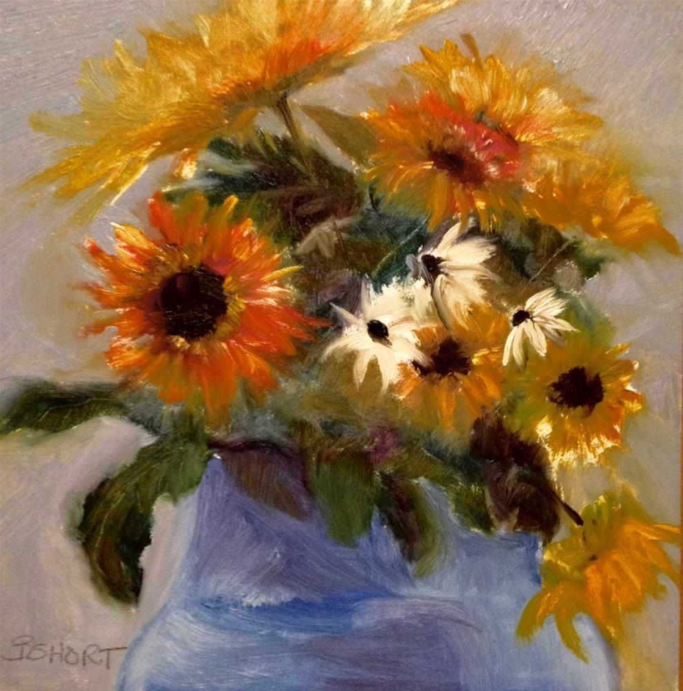 """day22; sunflowers"" original fine art by Brenda Short"