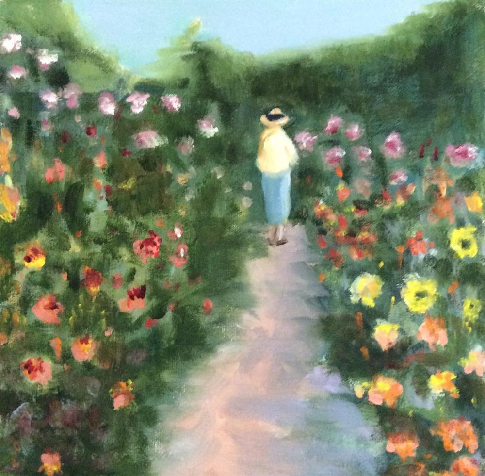 """Her Garden"" original fine art by Patty Barnes"