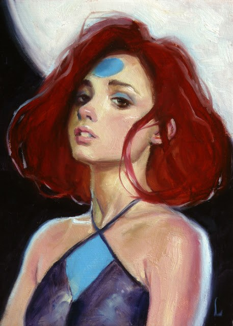 """Moon Disciple"" original fine art by John Larriva"