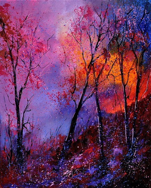 """magic trees 451120"" original fine art by Pol Ledent"