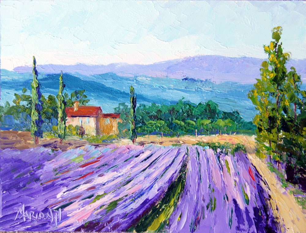 """Provence Lavender Farm"" original fine art by Marion Hedger"