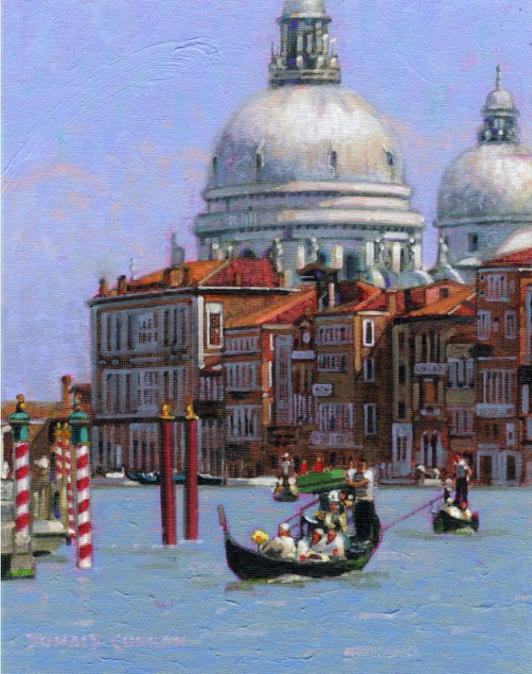 """Sunny Venice"" original fine art by Donald Curran"