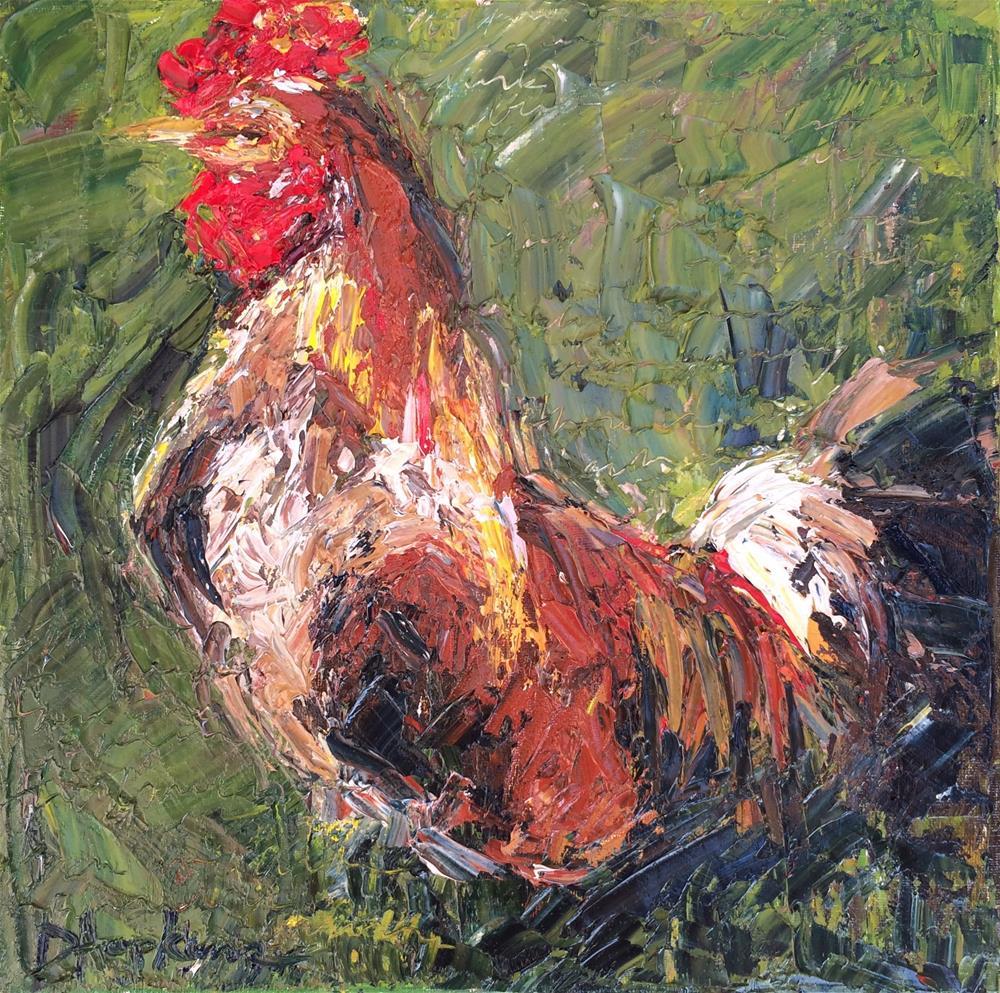 """Through the Fence"" original fine art by Denise Hopkins"