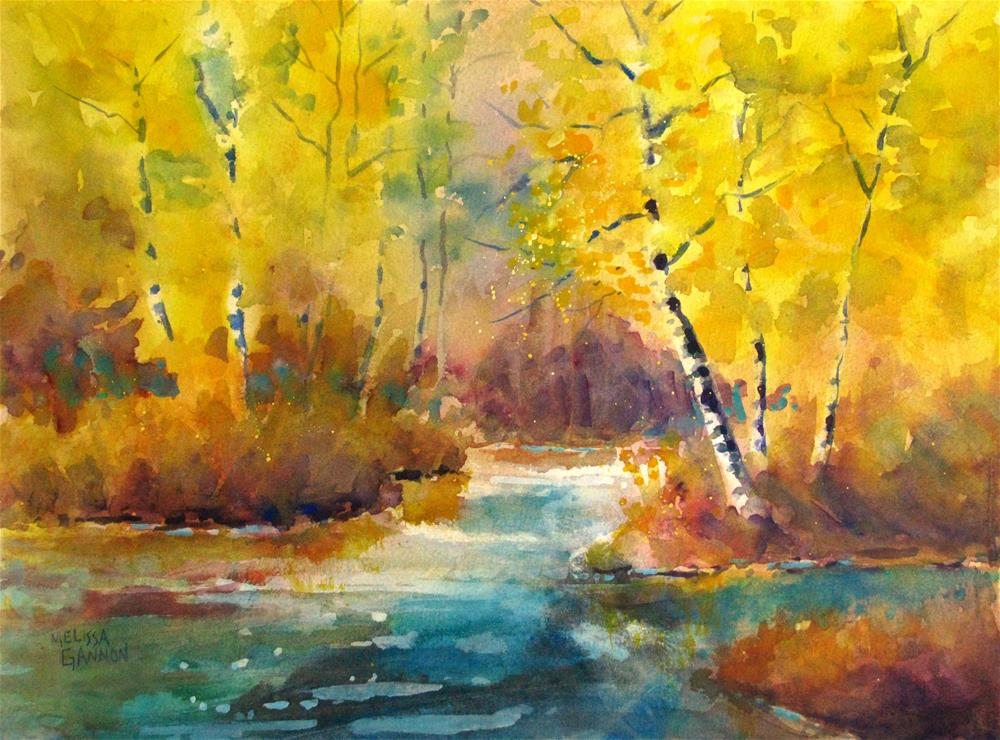 """Bursting with Yellow"" original fine art by Melissa Gannon"