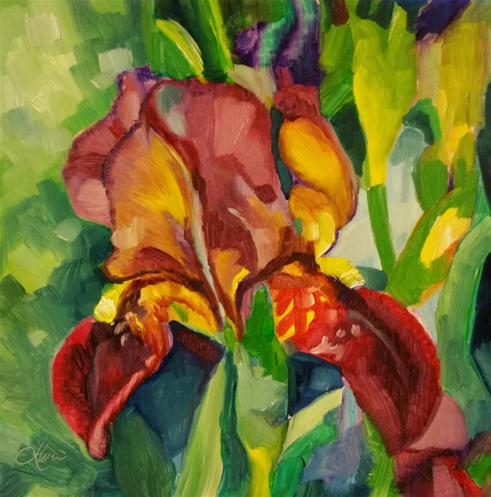 """Iris"" original fine art by Leni Tarleton"