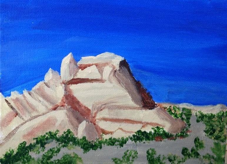 """Mormon Rocks 2"" original fine art by Brenda Smith"