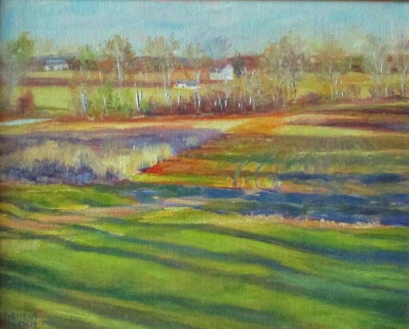 """Striped Fields"" original fine art by Christine Lewis"