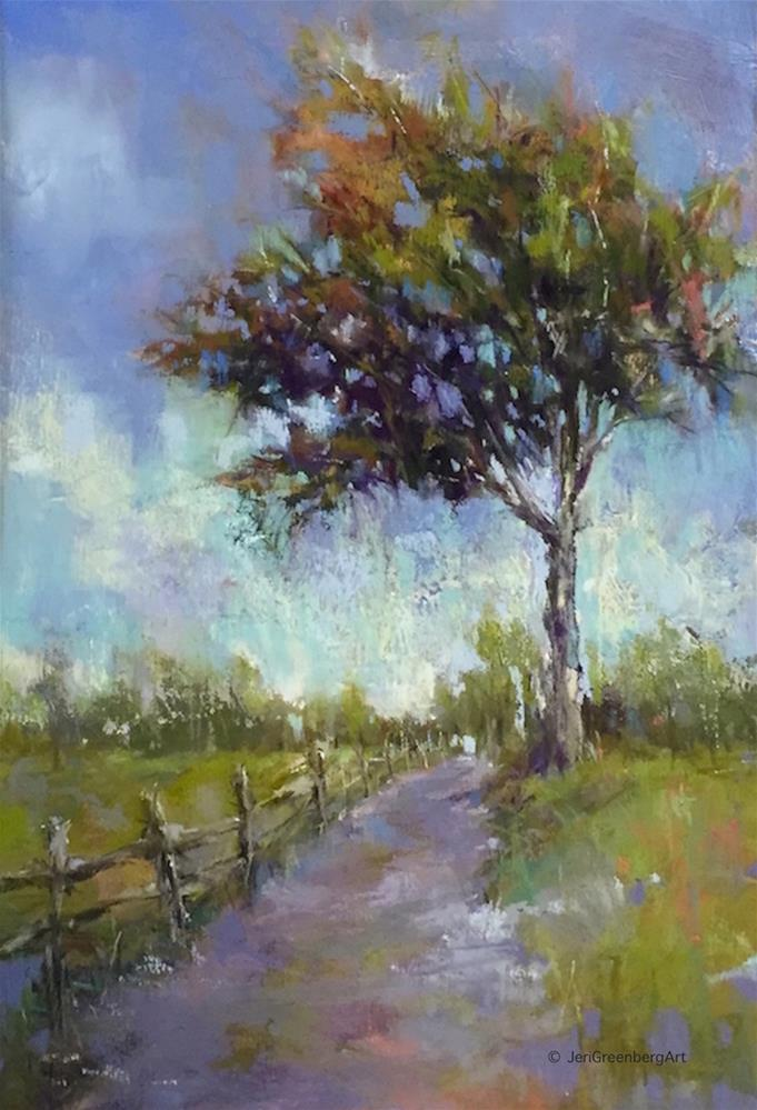 """Walk With Me"" original fine art by jeri greenberg"