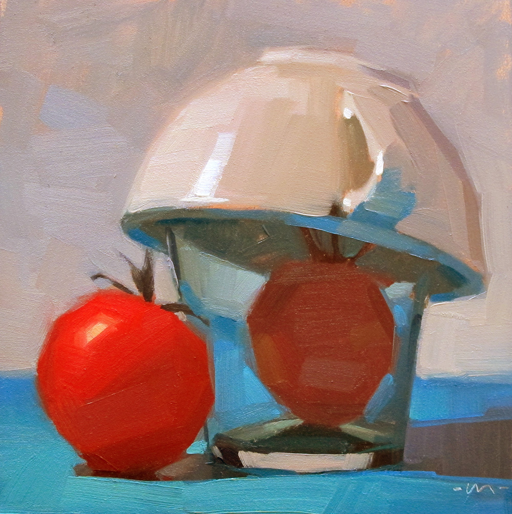 """Tomato Quarantine"" original fine art by Carol Marine"