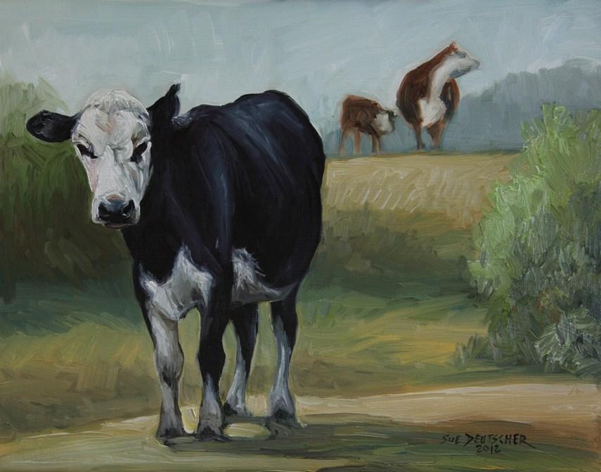 """""""Beef"""" original fine art by Sue Deutscher"""