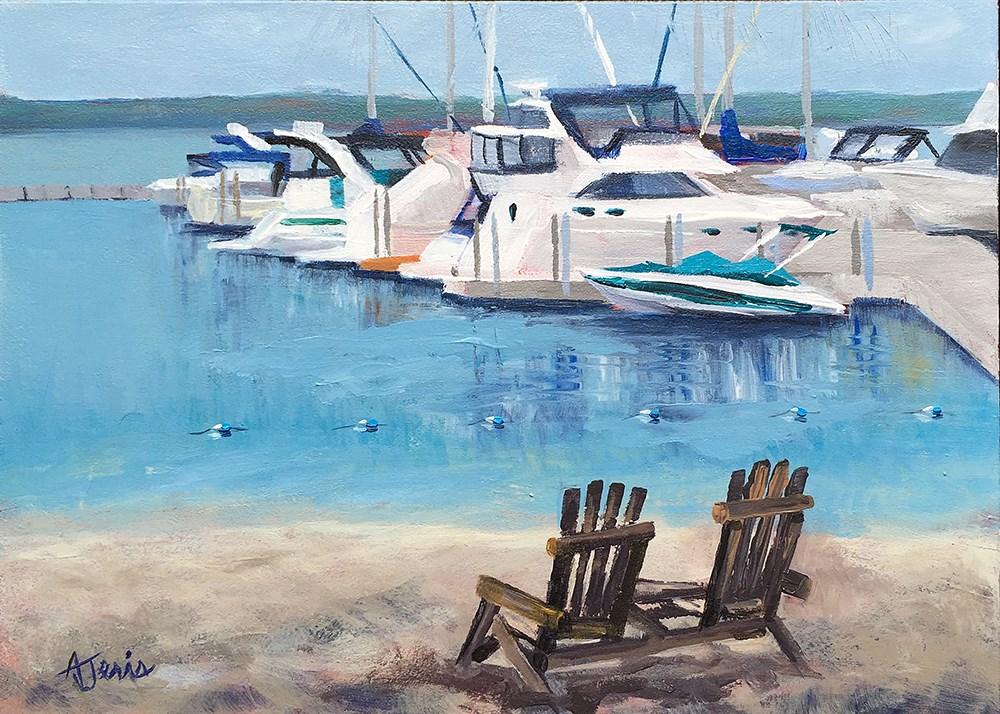 """Beach or Water"" original fine art by Andrea Jeris"