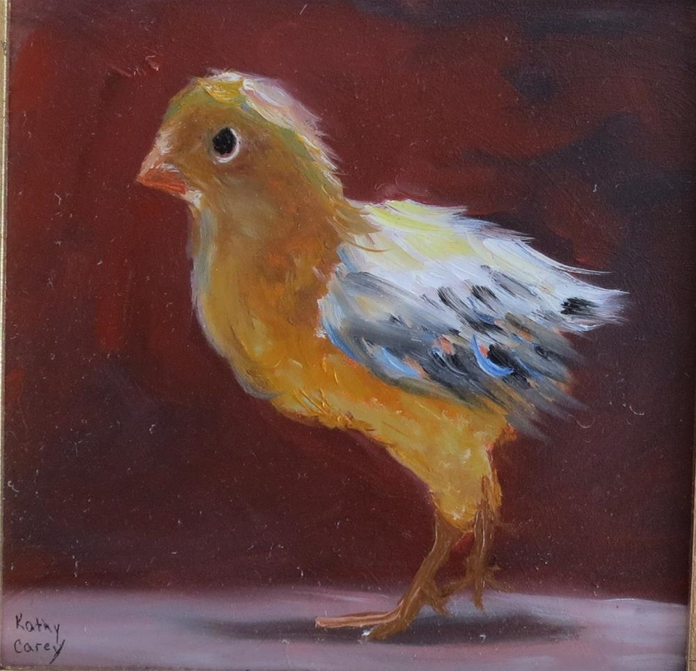 """My best side"" original fine art by Kathy Carey"