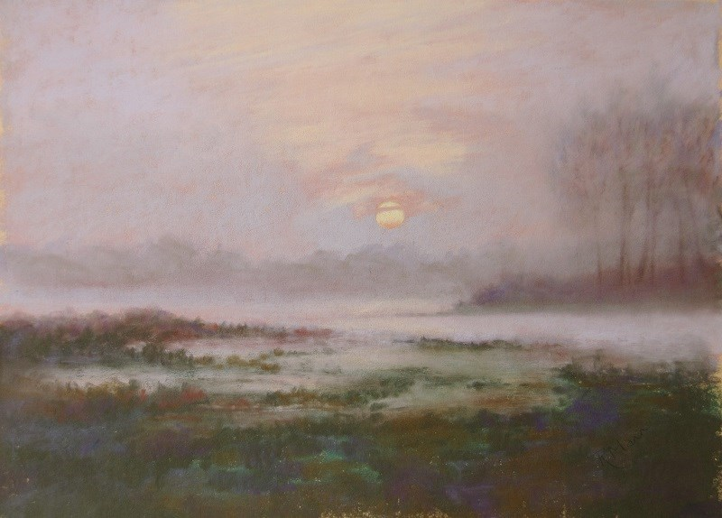 """Mist on the Marshes"" original fine art by Ruth Mann"
