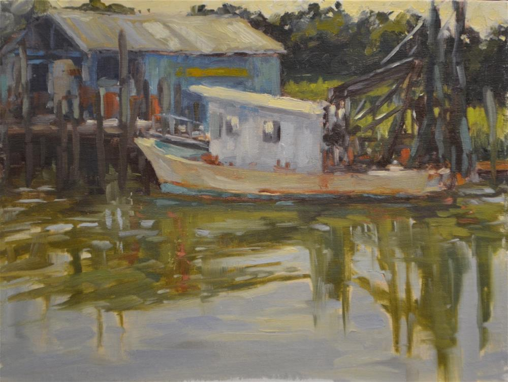 """waiting for high tide"" original fine art by Dottie  T  Leatherwood"