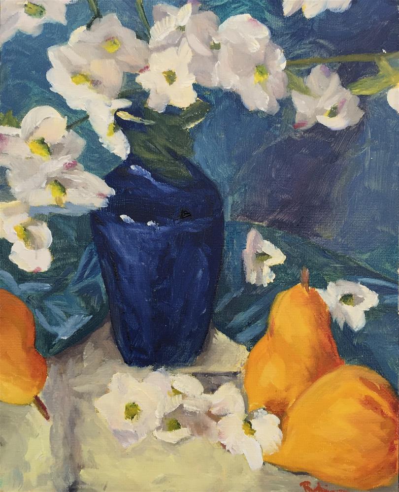 """""""Vase of Dogwoods"""" original fine art by Renee Robison"""