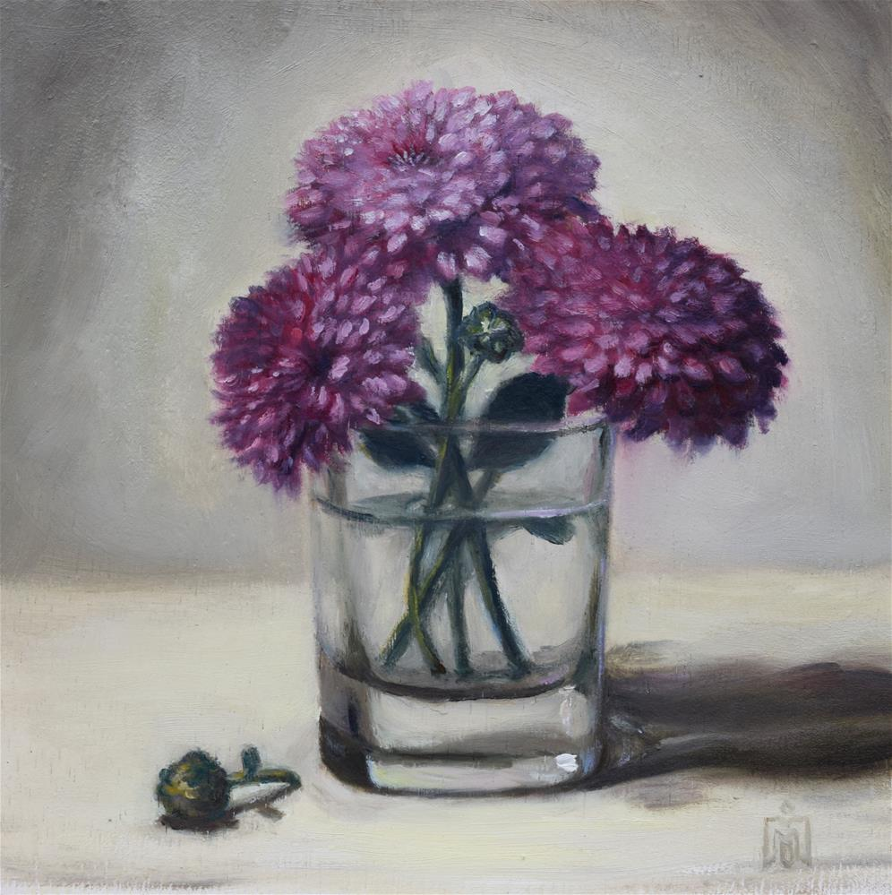 """Mums"" original fine art by Melissa  Imossi"