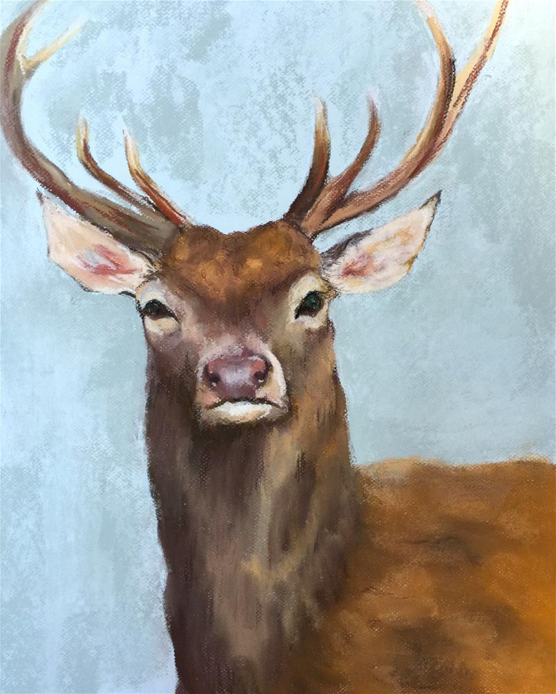 """Big Buck"" original fine art by Anne Marie Propst"