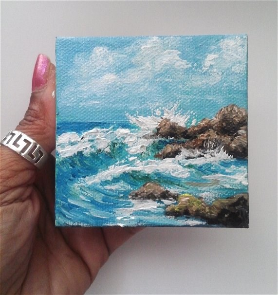 """Waves Crashing"" original fine art by Camille Morgan"