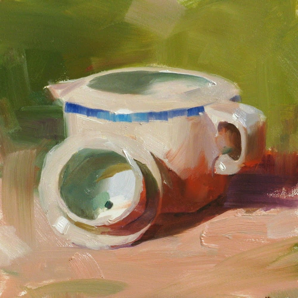 """""Plein Air Indoor"" original fine art by Qiang Huang"