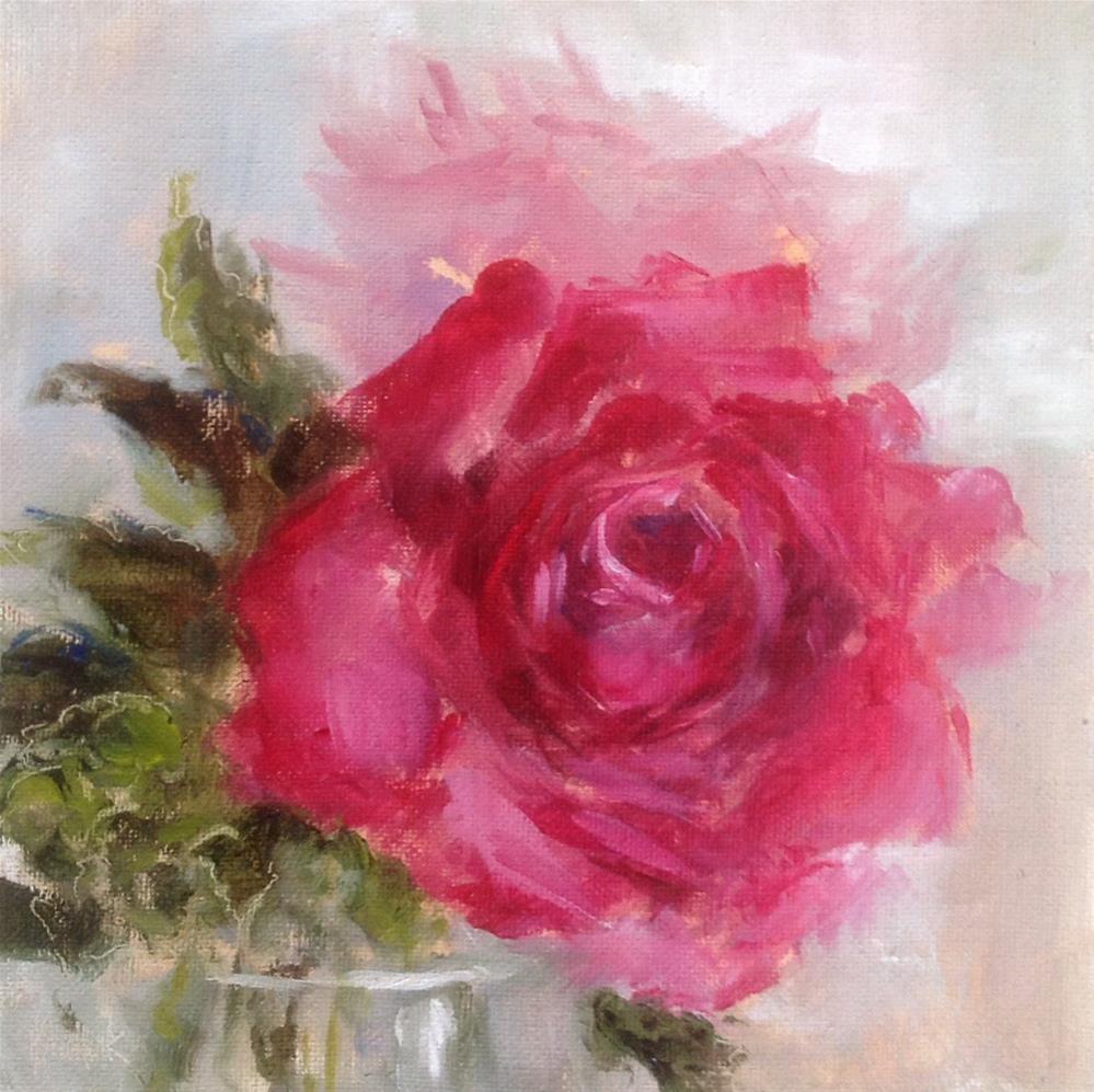 """A rose of course #700"" original fine art by Heidi Shedlock"