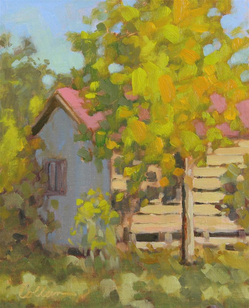 """Little House"" original fine art by Colleen Parker"