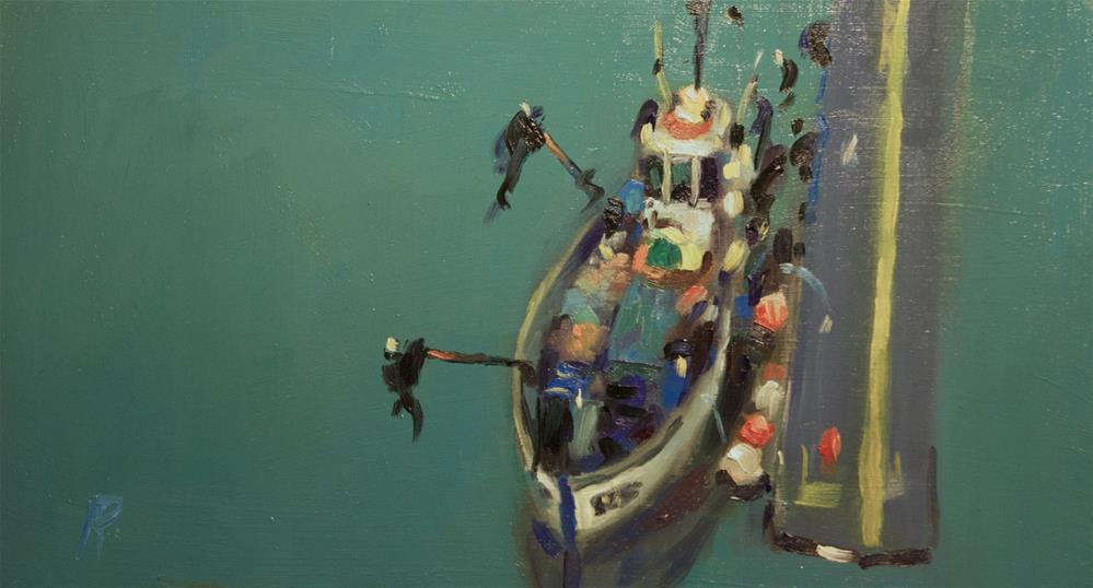 """Fishing Boat"" original fine art by Andre Pallat"