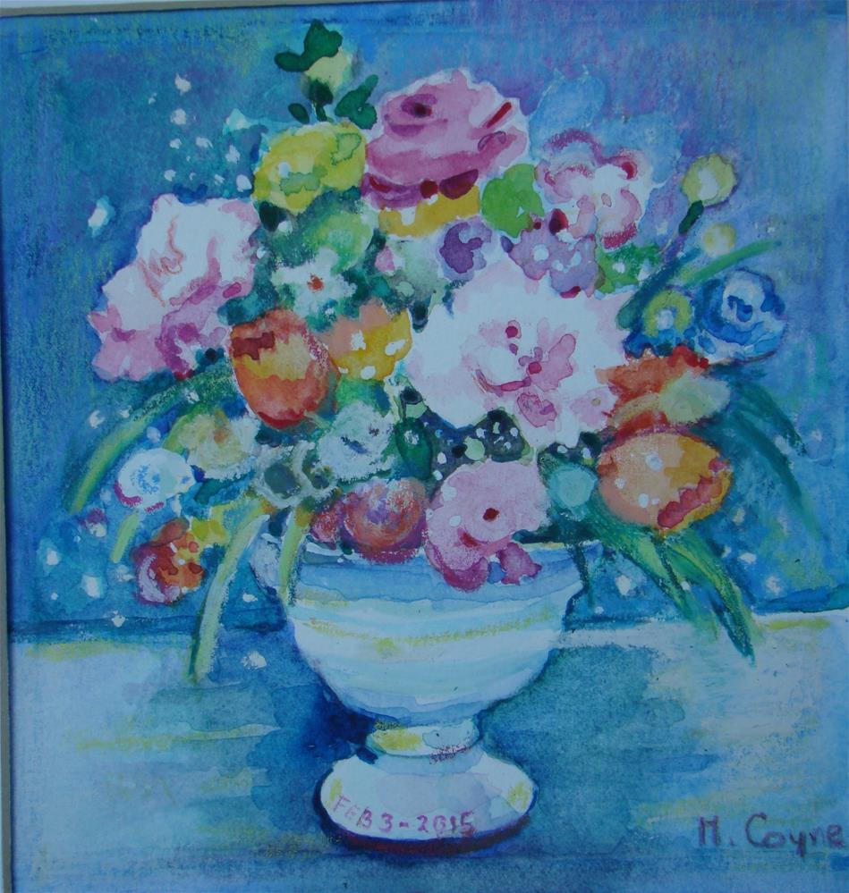 """Birthday flowers"" original fine art by meribeth coyne"