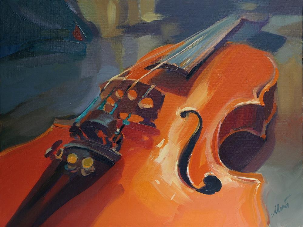 """violin"" original fine art by Beata Musial-Tomaszewska"