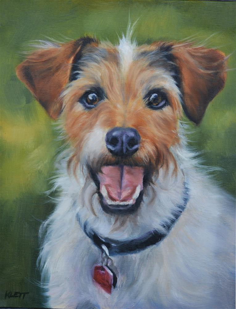 """Jack Russell"" original fine art by Tracy Klett"