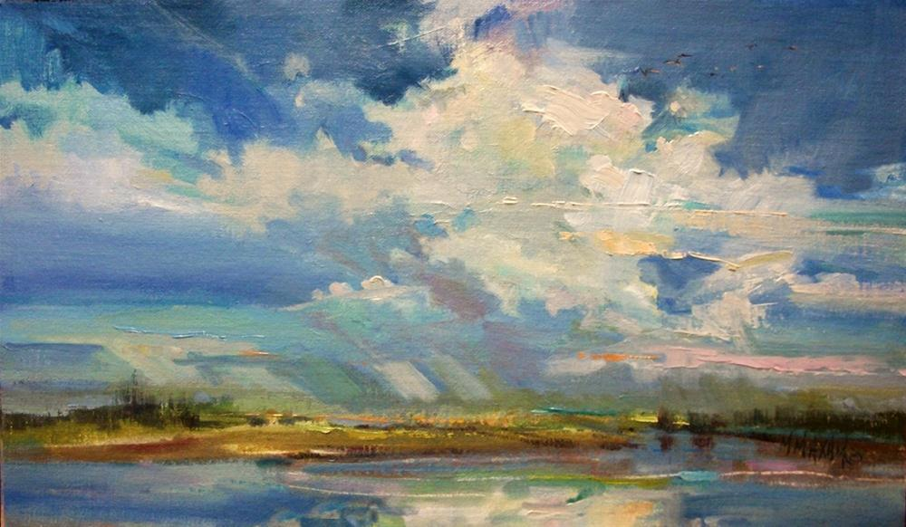 """Swept Away"" original fine art by Mary Maxam"
