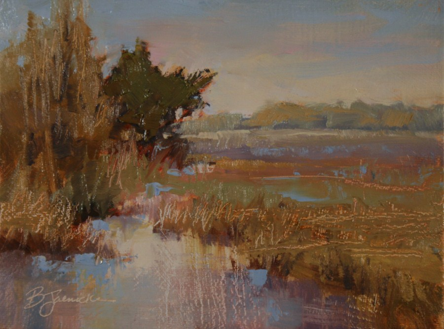 """Dusk on the Marsh"" original fine art by Barbara Jaenicke"