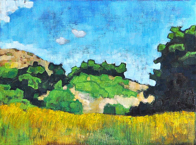 """Mission Trails Park Landscape"" original fine art by Kevin Inman"