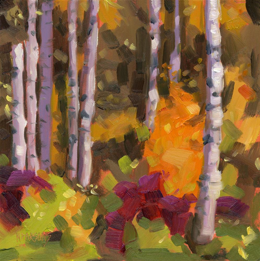 """Birch Grove"" original fine art by Nancy Parsons"