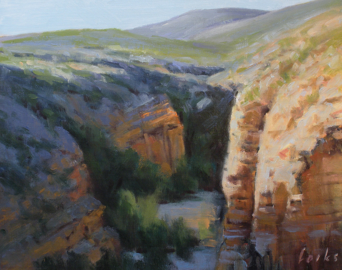 """Canyon at Black Gap"" original fine art by David Forks"