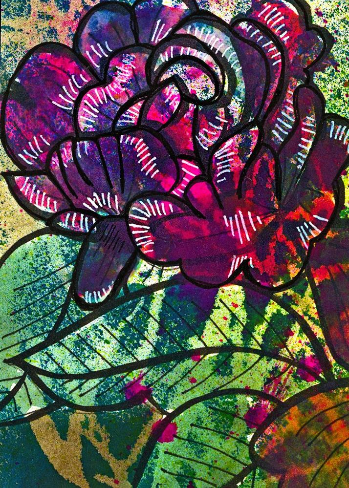 """Cabbage Rose 2"" original fine art by Tonya Doughty"