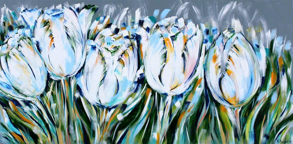 """""""White Tulips"""" original fine art by Khrystyna Kozyuk"""