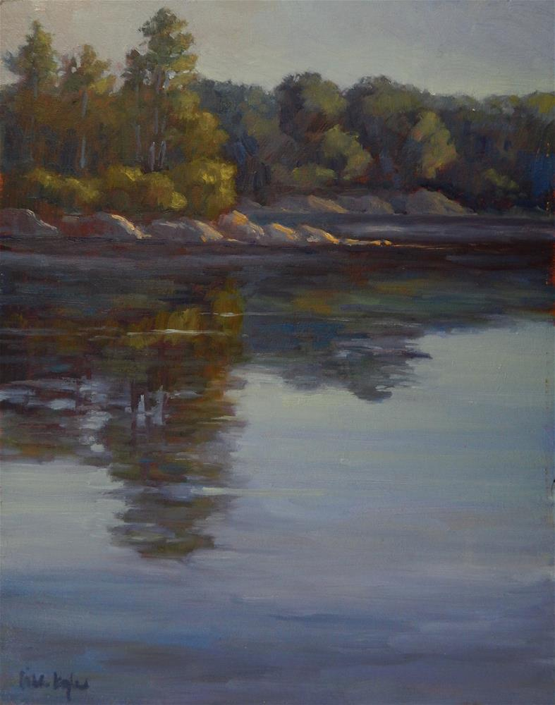 """Morning at the Cove"" original fine art by Lisa Kyle"