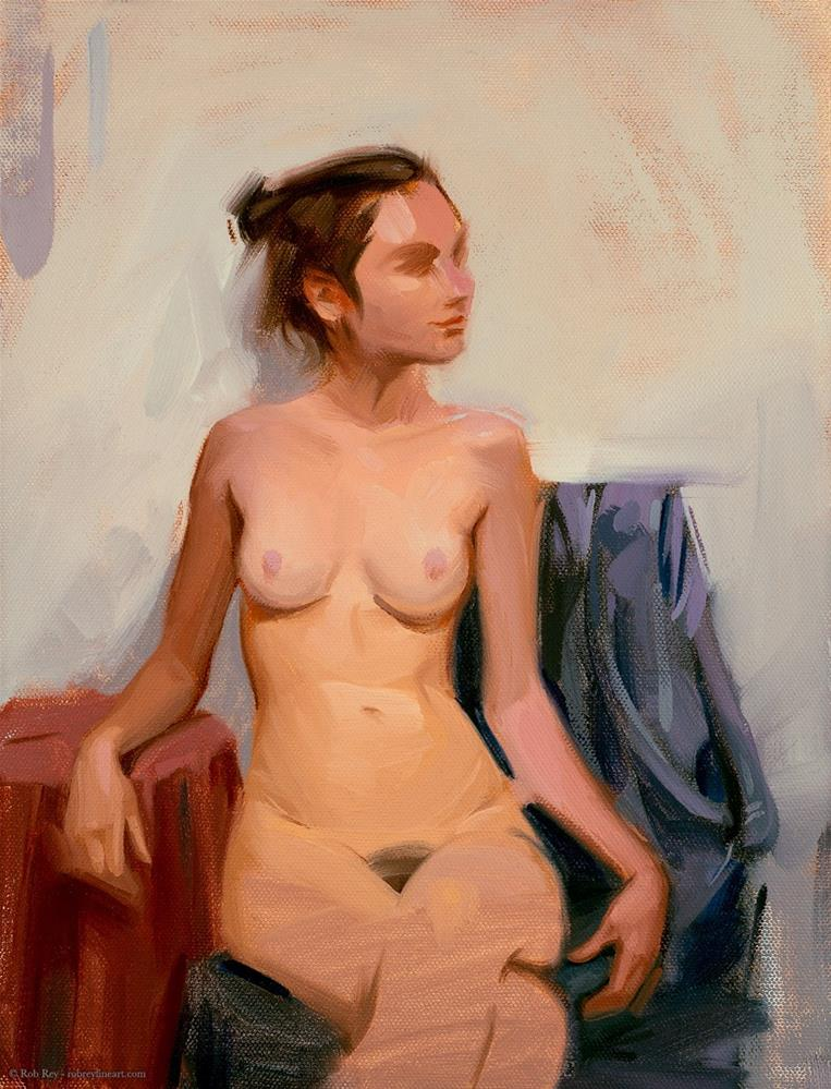 """Seated Nude"" original fine art by Rob  Rey"