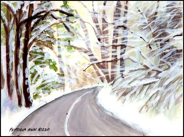 """The Way Home"" original fine art by Patricia Ann Rizzo"