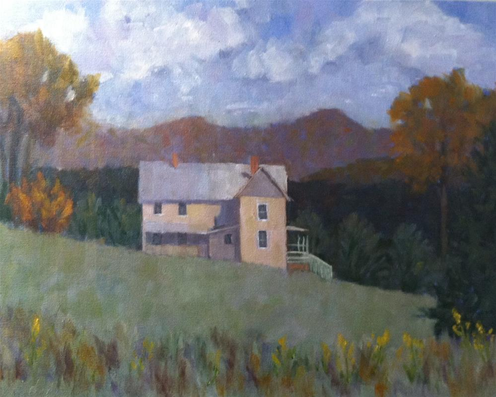 """Autumn View from the Vineyard"" original fine art by Katharine March"