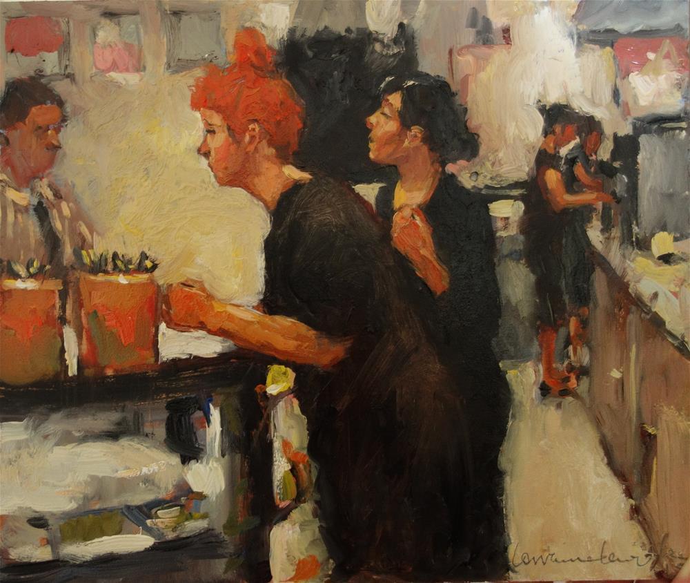 """""""Busy Kitchen"""" original fine art by Lorraine Lewitzka"""