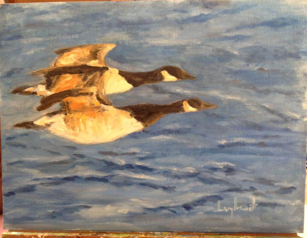 """Honorable Flight"" original fine art by Lucy Hammett"