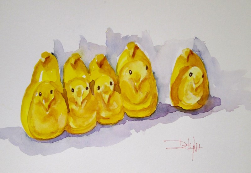 """Candy Peeps"" original fine art by Delilah Smith"